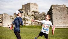 Kids at Portchester Castle ©English Heritage