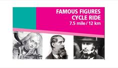 Famous Figures Cycle Ride Leaflet Banner