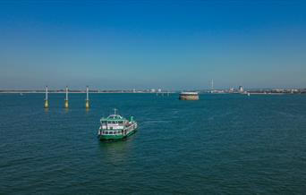 Gosport Ferry on a cruise through the Solent