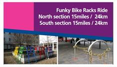 Funky Bike Racks Cycle Ride Banner