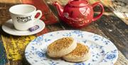 Tea and crumpets at Cosy Club Portsmouth
