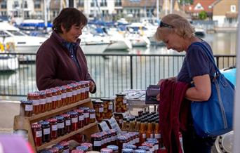 Port Solent Market - overlooking the Marina