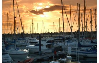 Sunset at Southsea Marina