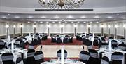 Function room suitable for weddings at Portsmouth Marriott hotel.