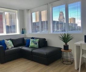 City Centre Apartment living space