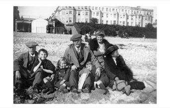 Photo of Arthur Conan Doyle with family in Eastbourne