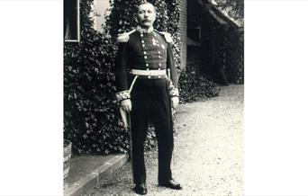 Arthur Conan Doyle dressed in the uniform of the Deputy Lieutenant
