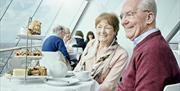 High Tea at The Clouds café, 100 metres above sea level at Emirates Spinnaker Tower
