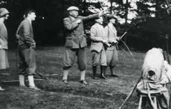 Image of Conan Doyle participating in Archery