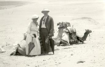 Photograph of Arthur Conan Doyle Arthur Conan Doyle and Louise, in Egypt