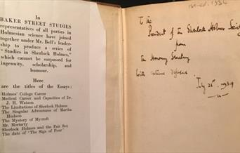 Inscribed copy of Baker Street Studies