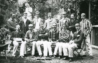 Photograph of Arthur Conan Doyle and his cricket team