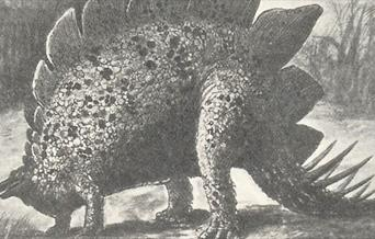 Illustration of a dinosaur from the Lost World