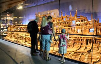 Family visit to The Mary Rose