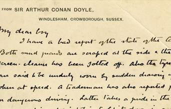 February Treasure - A letter from Arthur Conan Doyle to his son