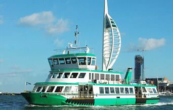 Gosport Ferry in front of the Spinnaker Tower