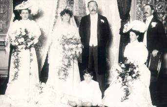 Photo of the wedding of Conan Doyle to his 2nd wife Jean Leckie