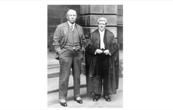 Photograph of Arthur Conan Doyle with Craigie Aitchison KC