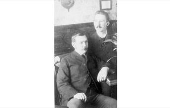 Photo Arthur Conan Doyle with his brother Innes, 1890