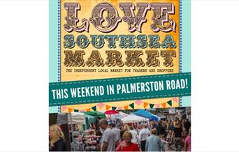 Love Southsea Market Palmerston Road Poster