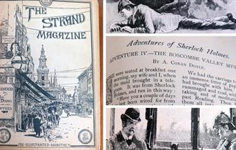Strand magazine collage
