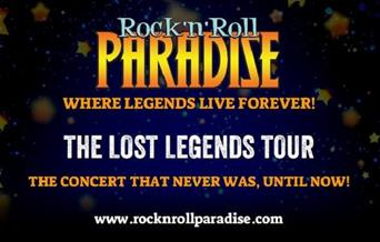 poster showing rock 'n' roll paradise tour