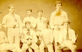 Photo of Conan Doyle with Stonyhurst Cricket Club