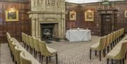 The Bristol Room at New Place Hotel set up for a ceremony
