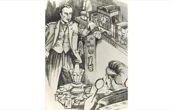 Illustration of Sherlock Holmes and Dr Watson