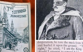 Photograph of the cover of the Strand magazine of July 1891