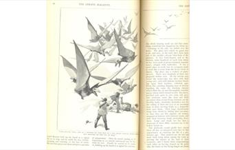 Attacked by pterodactyls in The Lost World, Strand Magazine