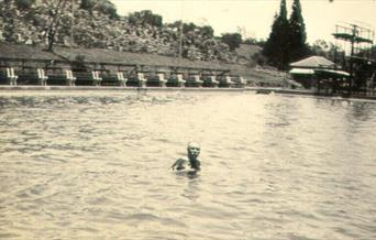 Photograph of Conan Doyle swimming