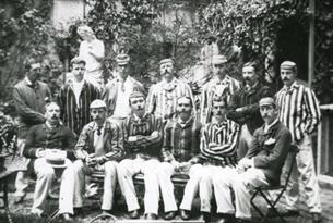 Photograph of Conan Doyle's cricket team